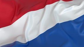 De vlag van Nederland Stock Foto's