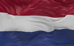 De vlag van Nederland die in de 3d wind golven geeft terug Royalty-vrije Stock Foto