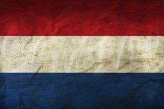 De Vlag van Nederland op papier vector illustratie