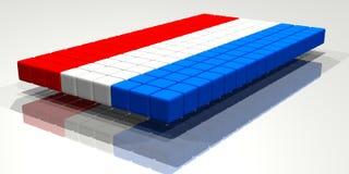 De Vlag van Nethelands Stock Foto