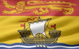 De Vlag van New Brunswick stock illustratie