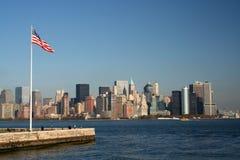 De vlag van New York Stock Foto
