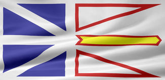 De vlag van Newfoundland en van Labrador vector illustratie