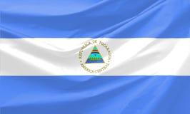 De Vlag van Nicaragua Royalty-vrije Stock Foto
