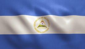 De vlag van Nicaragua Stock Afbeeldingen