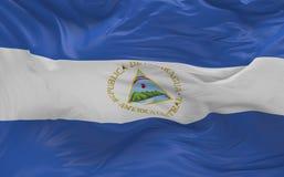 De vlag van Nicaragua die in de 3d wind golven geeft terug Royalty-vrije Stock Afbeelding