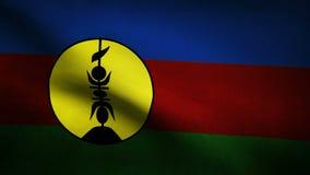 De vlag van Nieuw-Caledonië vector illustratie