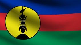 De vlag van Nieuw-Caledonië stock illustratie