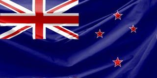 De Vlag van Nieuw Zeeland Stock Afbeelding