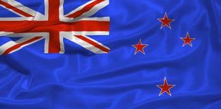 De Vlag van Nieuw Zeeland die door me3 wordt getrokken royalty-vrije illustratie