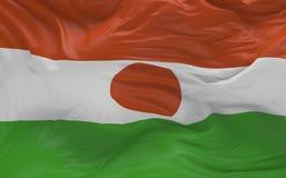 De vlag van Niger die in de 3d wind golven geeft terug Royalty-vrije Stock Afbeelding