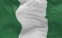 De vlag van Nigeria die in de 3d wind golven geeft terug Royalty-vrije Stock Fotografie