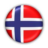 De Vlag van Noorwegen Stock Fotografie