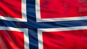De Vlag van Noorwegen 3d illustratie van golvende vlag van Noorwegen stock illustratie