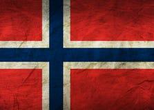 De Vlag van Noorwegen op papier stock illustratie