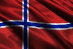 De vlag van Noorwegen, symbool van de de vlag 3D illustratie van Noorwegen het nationale Royalty-vrije Stock Afbeelding
