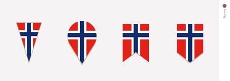 De vlag van Noorwegen in verticaal ontwerp, vectorillustratie stock illustratie