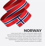 De vlag van Noorwegen voor decoratief Het kan voor prestaties van het ontwerpwerk noodzakelijk zijn stock illustratie
