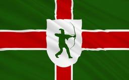 De vlag van Nottinghamshire is een provincie, Engeland Stock Fotografie