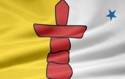 De Vlag van Nunavut royalty-vrije illustratie