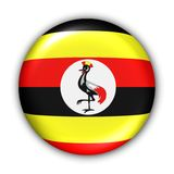 De Vlag van Oeganda Stock Fotografie