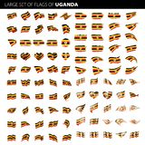 De vlag van Oeganda, vectorillustratie Royalty-vrije Stock Foto's