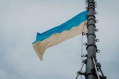 De Vlag van de Oekraïne stock afbeelding