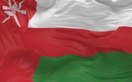 De vlag van Oman die in de 3d wind golven geeft terug Stock Fotografie