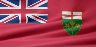 De Vlag van Ontario Stock Foto's