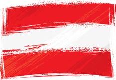 De vlag van Oostenrijk van Grunge Royalty-vrije Stock Fotografie