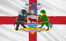 De vlag van Oxford is een stad, Engeland Royalty-vrije Stock Foto's