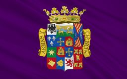 De vlag van Palencia is een provincie van noordelijk Spanje stock illustratie