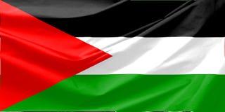 De Vlag van Palestina Stock Foto