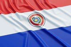 De vlag van Paraguay Stock Afbeelding