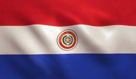 De vlag van Paraguay Stock Afbeeldingen