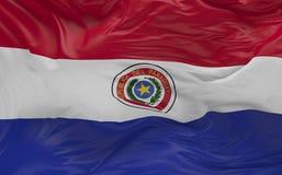 De vlag van Paraguay die in de 3d wind golven geeft terug Stock Fotografie