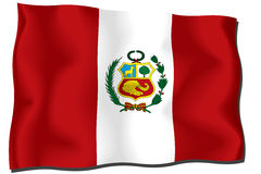 De Vlag van Peru vector illustratie