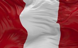 De vlag van Peru die in de 3d wind golven geeft terug Royalty-vrije Stock Foto