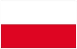 De Vlag van Polen vector illustratie