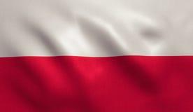 De Vlag van Polen Stock Afbeelding