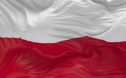 De vlag van Polen die in de 3d wind golven geeft terug Stock Afbeelding