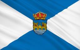 De vlag van Pontevedra is een provincie van Spanje in autonome comm vector illustratie