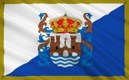 De vlag van Pontevedra is een provincie van Spanje in autonome comm stock illustratie
