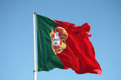 De vlag van Portugal Stock Fotografie