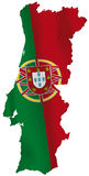 De vlag van Portugal royalty-vrije illustratie