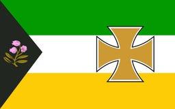 De vlag van Provincie Offaly is een provincie in Ierland stock foto