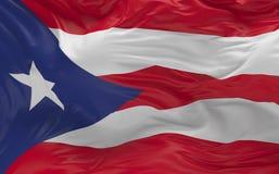 De vlag van Puerto Rico die in de 3d wind golven geeft terug Royalty-vrije Stock Afbeelding