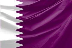 De Vlag van Qatar Stock Foto's