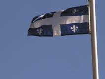 De vlag van Quebec Stock Foto
