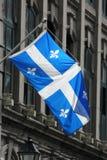 De vlag van Quebec Stock Fotografie